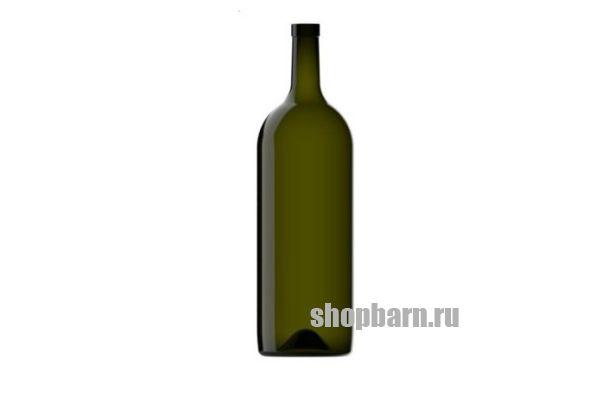 Винная бутылка 1,5 литра Бордо (зелёная)